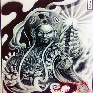 超霸气的托塔天王纹身图案图片